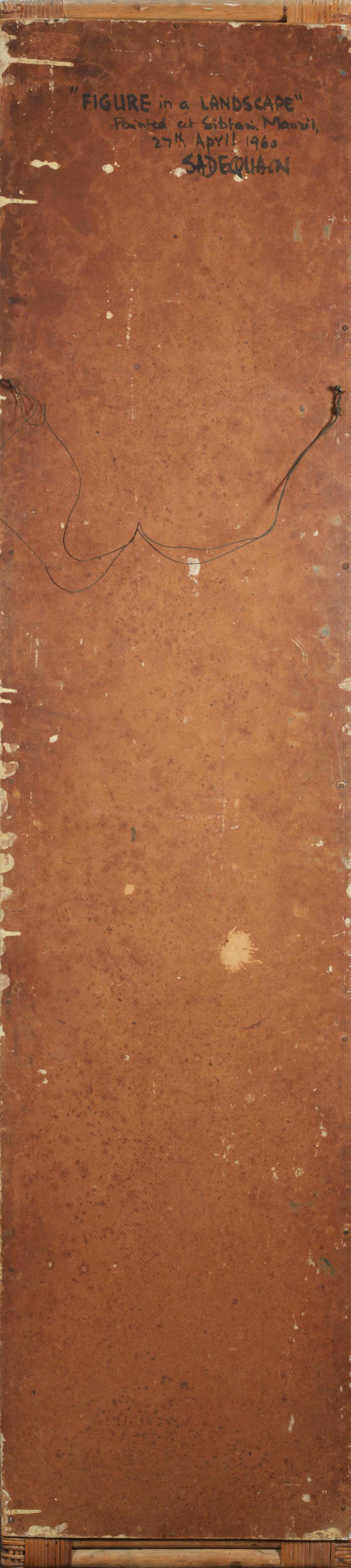 Sadequain (Pakistan, 1937-1987) Figure in a Landscape,