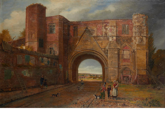 Reverend Thomas James Judkin (British, 1788-1871) The gate of Reading Abbey