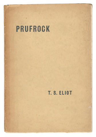 ELIOT (T.S) Prufrock and Other Observations, FIRST EDITION, LIMITED TO 500 COPIES, Egoist Press, 1917