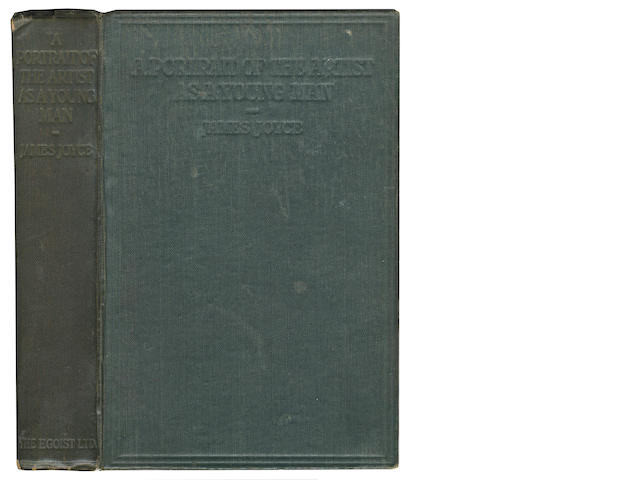 JOYCE (JAMES) A Portrait of the Artist as a Young Man, FIRST EDITION OF JOYCE'S FIRST NOVEL, THE ENGLISH ISSUE, ONE OF 750 COPIES, [1916]