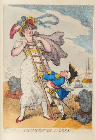 "CARICATURE ""Caricatures by Cruikshank, Rowlandson, Woodward, Etc. 1799-1822"""