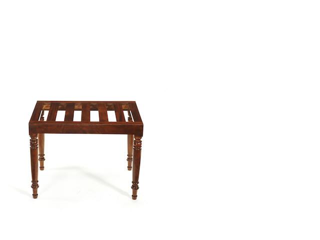 A George IV mahogany luggage rack
