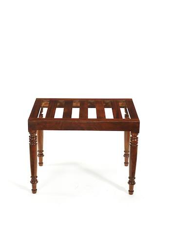 A George IV mahogany luggage rack