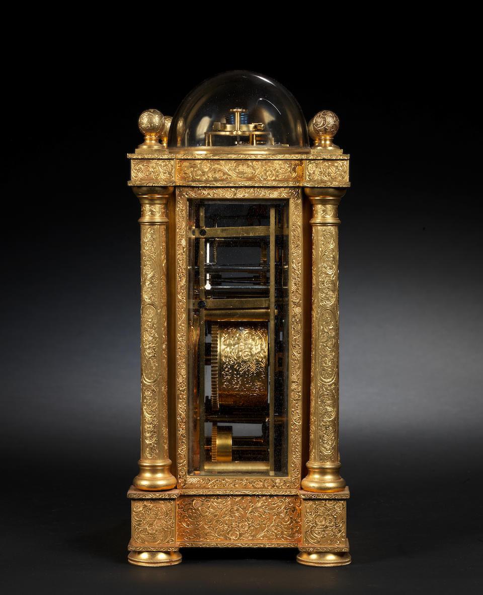 A rare mid 19th century French 'Bubble' top grande sonnerie giant carriage clock with detent escapement Berrolla Ainé, Rue de la Tour 2