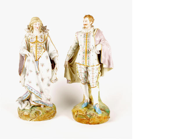 A pair of Paul Duboy Paris porcelain figures, late 19th century