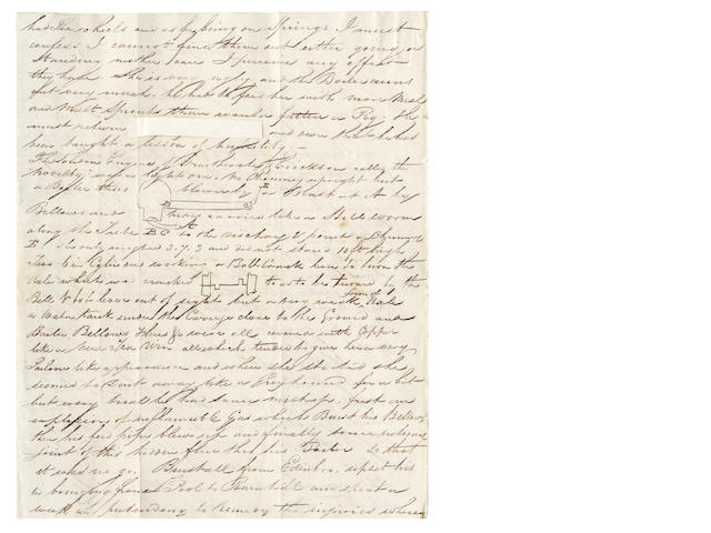 STEPHENSON'S ROCKET - Autograph letter signed by John Dixon, George Stephenson's Resident Engineer on the Liverpool & Manchester Railway, to his brother, devoted to description of the Rainhill Trials, 1829