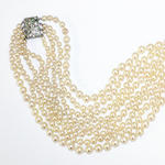 A four strand cultured pearl necklace