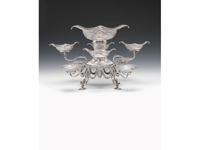 An impressive George III silver eight-arm épergne By Thomas Pitts (I), London 1775