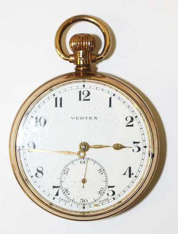 Vertex: A 9ct gold pocket watch