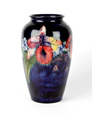 A Walter Moorcroft 'Orchid' vase