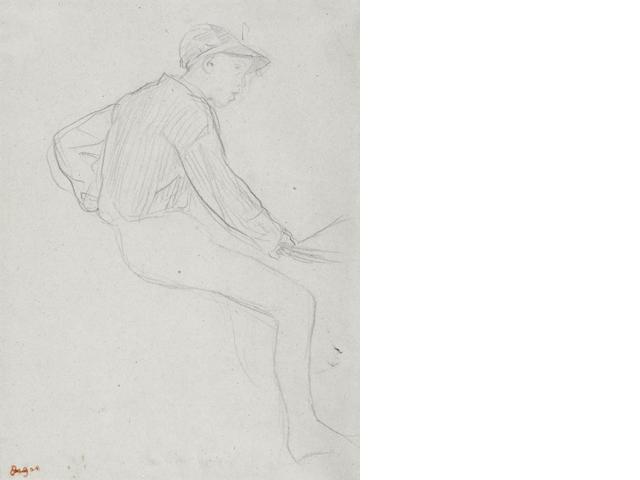 Edgar Degas Etude de jockey