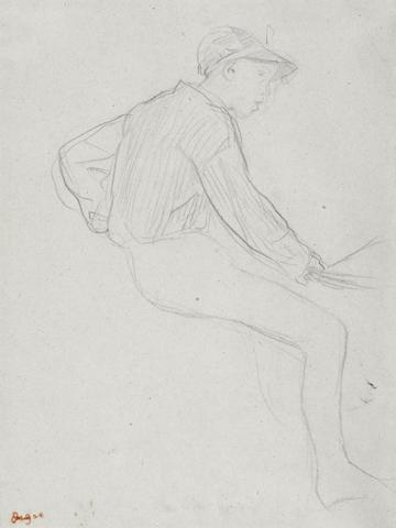 Edgar Degas (French, 1834-1917) Etude de jockey