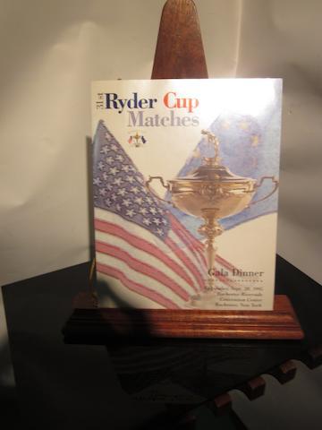 The 31st Ryder Cup Gala Dinner menu 20 September 1995