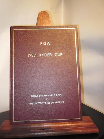 A fine leather bound 1987 Ryder Cup programme