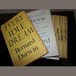 Darwin, Bernard: Three books in dust jackets