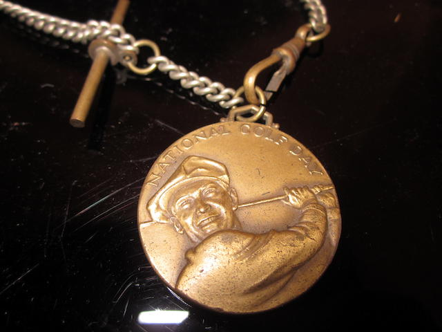 A Ben Hogan National Golf Day brass medal circa 1952