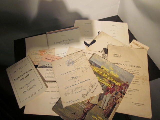 Tolley, Major Cyril James Hastings: associated ephemera