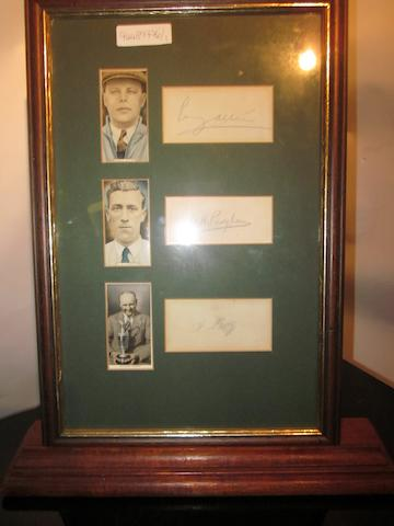 3 cigarette cards of members of the 1938 GB & I Ryder Cup Team
