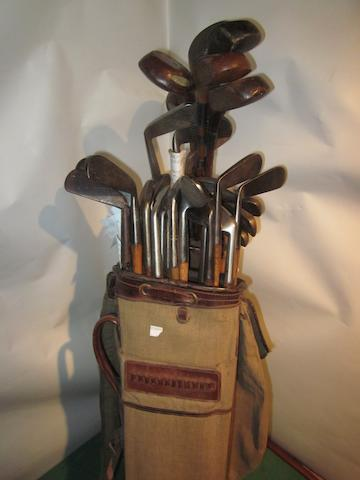 A selection of 35 wooden shafted clubs in playable condition