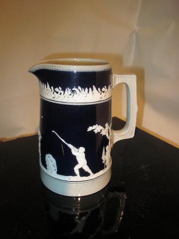 A Copeland Spode stoneware golfing jug circa 1910s