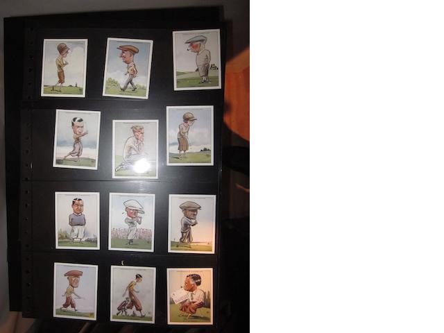 W.A. & A.C. Churchman 'Prominent Golfers' cigarette cards circa 1931