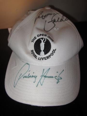 Padraig Harrington: A white golf cap 'Royal Liverpool The Open 2006'