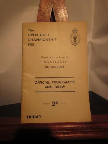 A 1953 Open Golf Championship Carnoustie 6th - 10th July programme