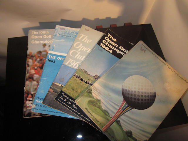 A small collection of Open Golf Championship programmes