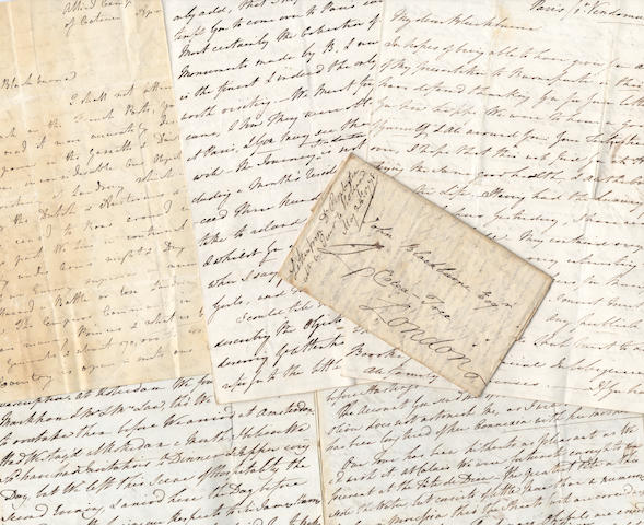 NAPOLEONIC and FRENCH REVOLUTIONARY WARS. Collection of letters including a campaign letter by J. Gascoigne, 1778-1810