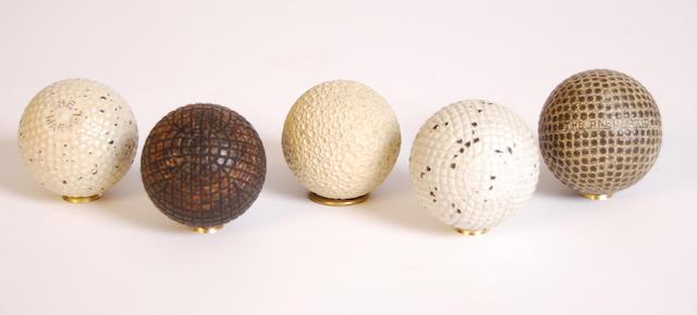 A J. & A. Dickson 27½ gutta-percha golf ball circa 1880s