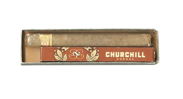 CHURHILL (WINSTON) Two Churchill cigars; and other material