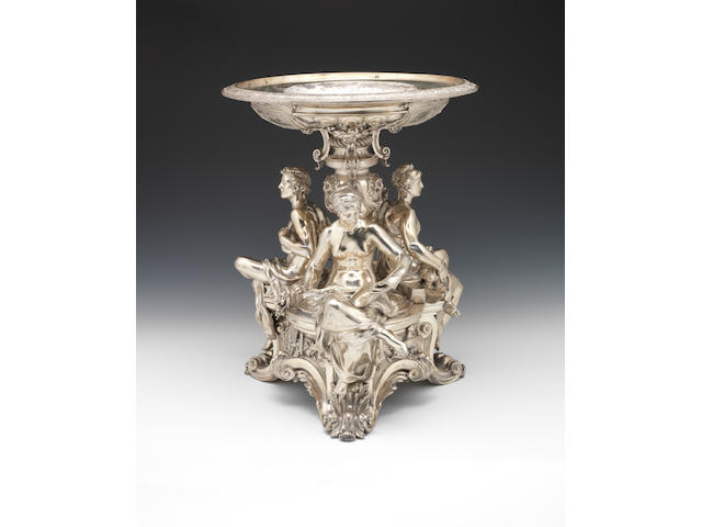 An impresive silver trophy centrepiece, (Fromel Maurice)
