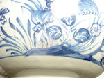 A rare Jacobite delft blue and white punch bowl Circa 1760