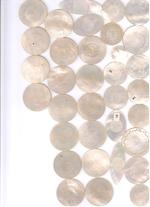 A study collection of mother-of-pearl gaming counters 18th/19th century