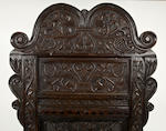 A rare and unusually large Charles II ash panel back armchair South-West Yorkshire/East Lancashire, circa 1660-1680