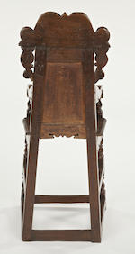 A Charles II oak and marquetry child's high chair South Yorkshire, circa 1670-80