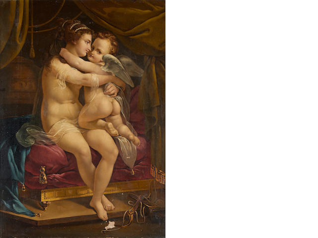 French School, 19th Century Venus and Cupid