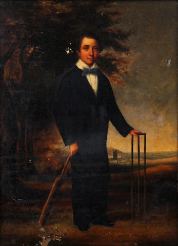 The cricketer, c. 1870