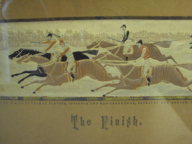 A pair of 19th century silkwork horse racing stevengraphs
