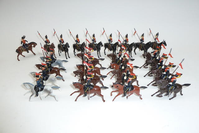 Britains set 24, 9th Lancers at the halt 35