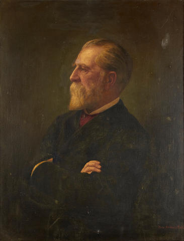 Hans Andreas Dahl (Norwegian, 1881-1919) Half length portrait of a man with beard, believed to be Hans Dahl Snr.