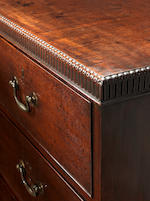 A large George III mahogany chest