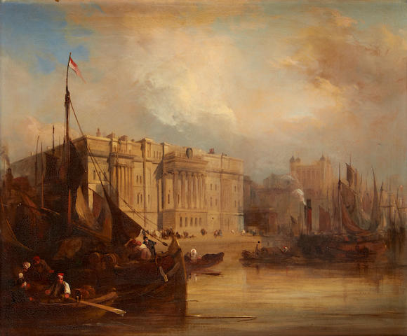James Duffield Harding, OWS (British, 1798-1863) The Custom House, London