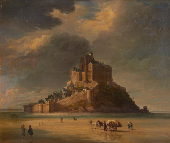 Circle of François Edmé  Ricois (French, 1795-1881) Mont St Michel