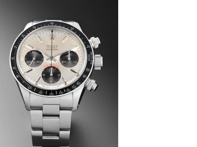 Rolex. A stainless steel manual wind chronograph bracelet watch Daytona, Ref:6263, Serial No.762****, Circa 1982