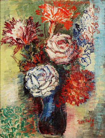 Jean Dufy (French, 1888-1964) Bouquet de roses et d'oeillets