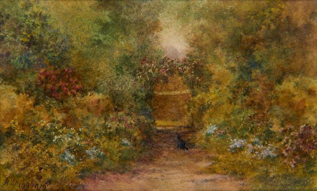 Helen Allingham, RWS (British, 1848-1926) The rose arch