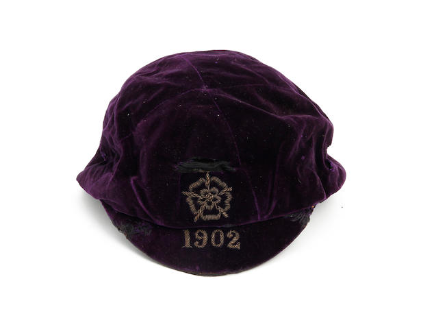 1902 England cap awarded to Jack Cox