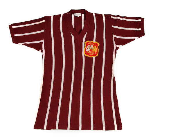 1956 F.A. Cup final shirt worn by Manchester City's Dave Ewing