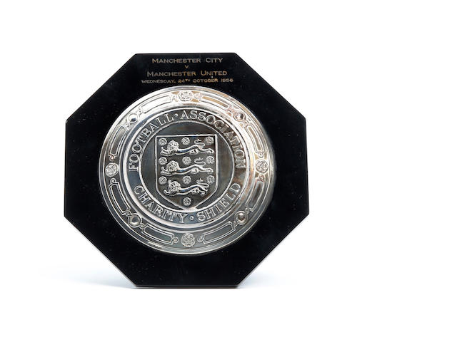 1956 Charity Shield plaque awarded to Manchester City's Dave Ewing